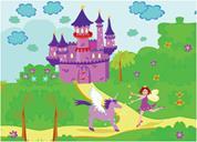"""Next παζλ """"Η νεράιδα και το κάστρο"""" 25x35εκ. 30 τεμαχίων"""