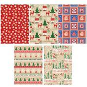 Χαρτί περιτυλίγματος ρολό 70x200εκ. κραφτ χριστουγεννιάτικο (P2 _KRAFT_GW_2)