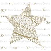 """Χαρτοπετσέτες 20τεμ. """"χριστογ. χρυσό αστέρι"""" 33x33εκ. (SDGW012102)"""