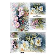 """Ριζόχαρτο """"flowers 1"""" 42x29.7εκ.   (ITD-R106L)"""