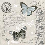"""Χαρτοπετσέτες 20τεμ. 33x33εκ """"πεταλούδα vintage"""" (SLOG041101)"""