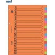 Next διαχωριστικά χάρτινα 1-20, Α4