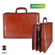 Δερμάτινη τσάντα επαγγελματική 44x12x30εκ. καφέ
