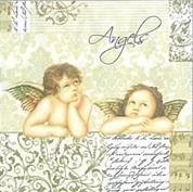 """Χαρτοπετσέτες 20τεμ. """"Angels"""" 33x33εκ. (SLOG 002801)"""