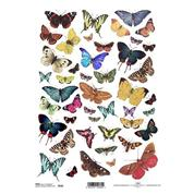 """Ριζόχαρτο """"butterflies 1"""" 21x29εκ.   (ITD-R230)"""