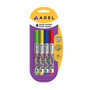 Adel μαρκαδόροι υφασμάτων 4 χρώματα Classic