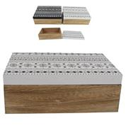 """Κουτί διακοσμητικό """"ethnic"""" σετ 2 τεμαχίων Υ8x22,5x16εκ."""