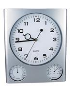 Ρολόι τοίχου θερμόμετρο-υγρόμετρο λευκό καντράν 27.5x32x2,5εκ.