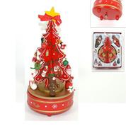 Χριστουγεννιάτικο μουσικό δέντρο ξύλινο Υ23x12x12εκ.