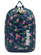 Bagtrotter τσάντα πλάτης δημοτικού λουλούδια μπλε με 2 θήκες 49x33x12εκ.
