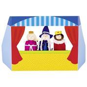 Goki κουκλοθέατρο με 3 δαχτυλoφιγούρες χάρτινο Y22x26x13εκ.