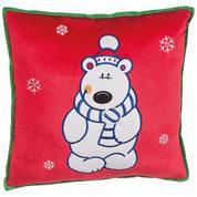 """Χριστουγεννιάτικο μαξιλάρι """"αρκούδα"""" 30x30x9εκ."""