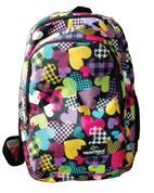 Montana τσάντα πλάτης εφηβική καρδιές με μπροστινή θήκη 40x27x12εκ.