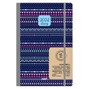 Next ημερολόγιο ACADEMIC+ 9/2021-12/2022 Gallery εβδομαδιαίο flexi 14x21εκ. Αραβικό μπλε