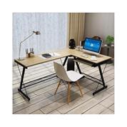 Γραφείο αριστερή γωνία Υ73x110x120x48εκ. maple χρώμα και μεταλλικό μαύρο σκελετό