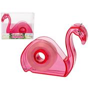 """Κολλητική ταινία με βάση """"flamingo"""" σε διάφανο πλαστικό κουτί"""