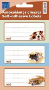 "Next ετικέτες τετραδίων ""Pets"" 8,5x4εκ."