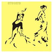 """Στένσιλ πλαστικό """"dancer"""" 16x16εκ.  (ST0167B)"""