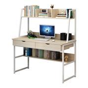 Γραφείο Υ74/138x100x48εκ. maple χρώμα και μεταλλικό άσπρο σκελετό