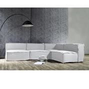 BARROS καναπές με αναστρέψιμη γωνία Υ73x288x194x100εκ. και γκρι αποσπώμενα καλύμματα