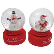 Χριστουγεννιάτικες χιονόμπαλες Υ8x9εκ. κοκτέηλ 2 σχέδια