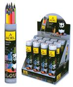 Adel ξυλομπογιές σε κύλινδρο Blackline 12 χρώματα