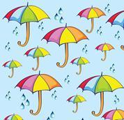 """Χαρτόνι """"ομπρέλες"""" 50x70εκ. 300γρ."""
