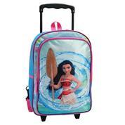 "Bagtrotter τσάντα δημοτικού τρόλευ ""Vaiana"" μπλε-ροζ 38x28x12εκ."