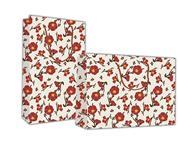 """Next χάρτ. τσάντα Υ41x24,5x9 """"Φθινοπωρινά λουλούδια"""""""