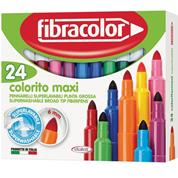 Fibracolor μαρκαδόροι ζωγραφικής Colorito maxi 24χρώμ.
