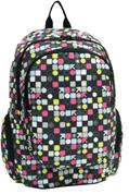 Bagtrotter τσάντα πλάτης εφηβική Global circles με 2 θήκες 44x31x18εκ.