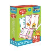 Luna κάρτες Γράφω & Σβήνω - Μαθαίνω τους Αριθμούς, 24 τεμ.