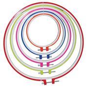 Σέτ 5 πλαστικά τελάρα για κέντημα, Ø 12, 16, 20, 24, 28,5  εκ.