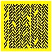 """Στένσιλ πλαστικό """"Ακανόνιστα ορθογώνια """" 16x16εκ.  (ST0129)"""