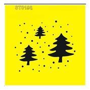 """Στένσιλ πλαστικό """"Χριστουγεννιάτικα δέντρα"""" 16x16εκ.  (ST0108A)"""