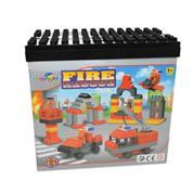 Κουτί με 67 τουβλάκια για κατασκευή πυροσβεστικού σταθμού