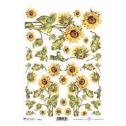 """Ριζόχαρτο """"sunflower"""" 21x29εκ.   (ITD-R410)"""