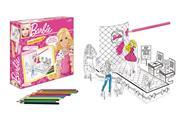 """Σετ ζωγραφικής & δημιουργίας 3D """"Barbie"""" 28x25x6εκ."""