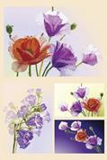 """Χαρτί decoupage """"Flower"""" 32x48εκ."""