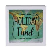 Κουμπαράς -  κορνίζα πλαστικός Holiday Fund 15x15x5εκ.