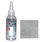 Glitter σκόνη 1/64'' σε μπουκάλι ασημί 40γρ.