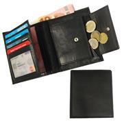 Πορτοφόλι δερμάτινο με θήκες για κάρτες 12x10.5x1.5εκ.