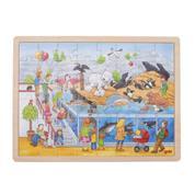 "Goki παζλ ξύλινο ""Ζωολογικός κήπος"" 30x40εκ. 48 τεμαχίων"