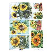 """Ριζόχαρτο """"sunflower"""" 42x29.7εκ.   (ITD-R094L)"""