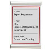 Σύστημα τοποθέτησης επιγραφών 29,7x10,5εκ.
