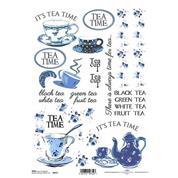 """Ριζόχαρτο """"tea blue"""" 21x29εκ.   (ITD-R413)"""