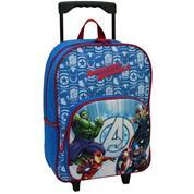 "Bagtrotter τσάντα δημοτικού τρόλευ ""Avengers"" μπλε 41x30x12εκ."