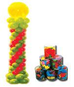 """Μπαλόνια βαρελάκι 6'' """" με σφυρίχτρες"""" 100τεμ."""
