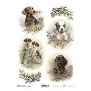 """Ριζόχαρτο """"puppies"""" 21x29εκ.   (ITD-R1016)"""