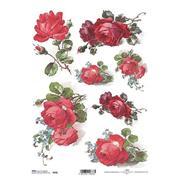 """Ριζόχαρτο """"red roses"""" 21x29εκ.   (ITD-R646)"""
